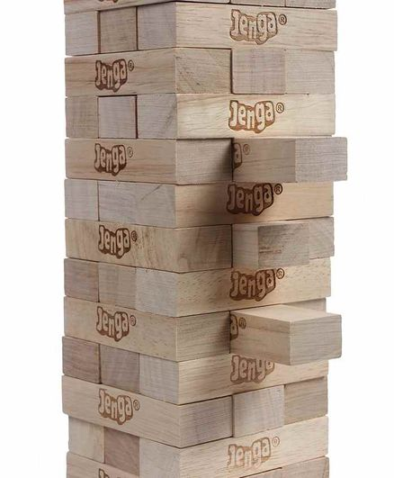 Funskool Jenga The Original Wood Block Game - Brown