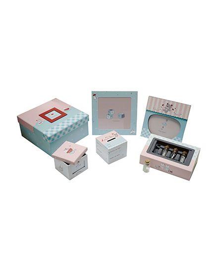 Gifthing Baby Object Keepsake Set - Pink And Blue