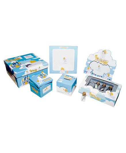 Gifthing My Little King Keepsake Set - Blue And White
