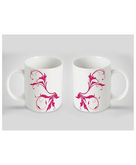 Stybuzz Kids Ceramic Mug White & Pink 300 ml - Single Piece