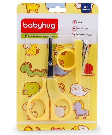 Babyhug Scissors & Nail Clipper Set - Yellow