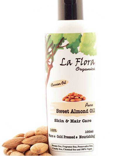 La Flora Organics Pure Sweet Almond Oil - 100 ml