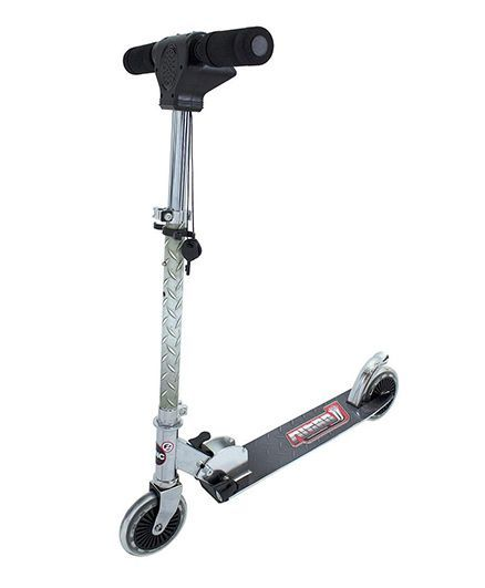 Zinc Nitro Light Sound Two Wheel Inline Scooter Black & Silver - ZC92102