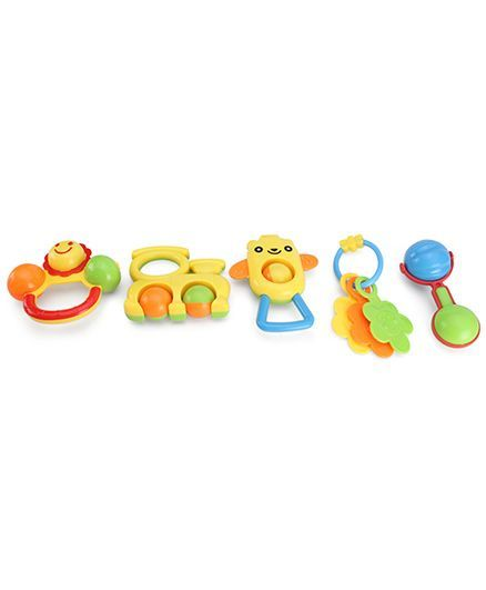 Playmate Rattle Set - 5 Pieces (Color & Design May Vary)