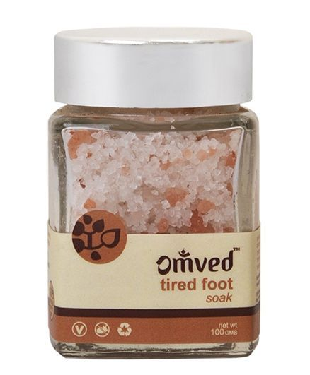 Omved Peppermint & Lemon Tired Foot Soak - 100 gm