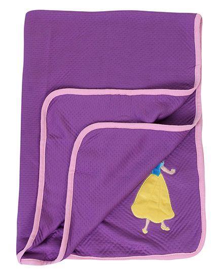 Disney International Modal Blanket Snow White Design - Purple