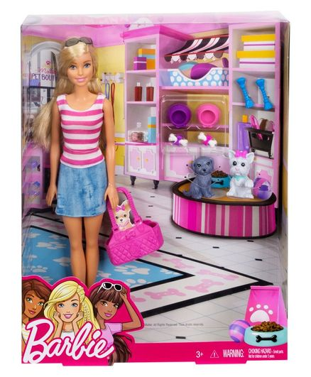 barbie doll with pets pink online india buy dolls and dollhouses