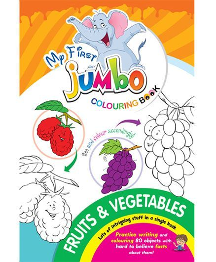 My First Jumbo Coloring Book Fruits And Vegetables