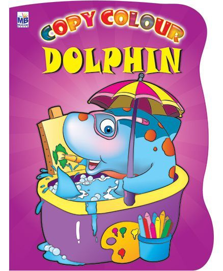 Macaw Shaped Copy Color Book Dolphin - English
