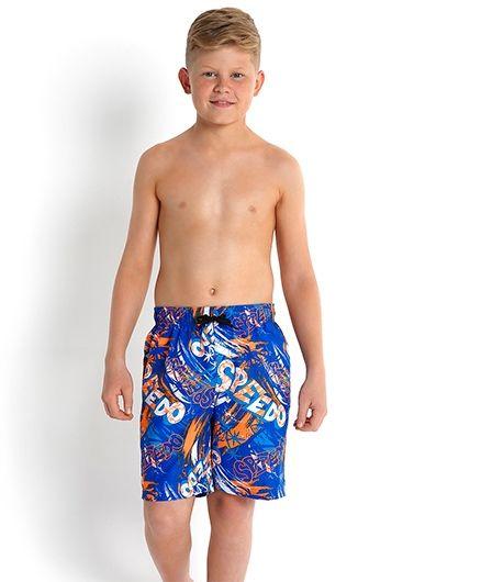 Speedo Printed Swimming Trunks - Light Blue