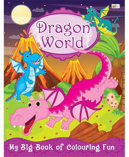 Dragon World Coloring Book