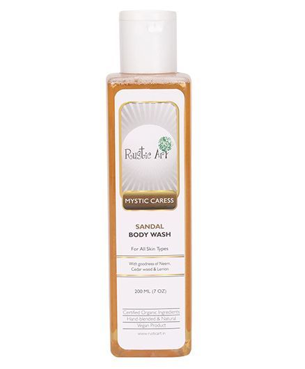 Rustic Art Organic Sandal Body Wash - 200 ml
