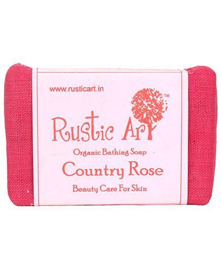 Rustic Art Organic Country Rose Soap - 100 gm