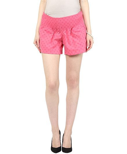 Mamacouture Maternity Shorts -  Pink