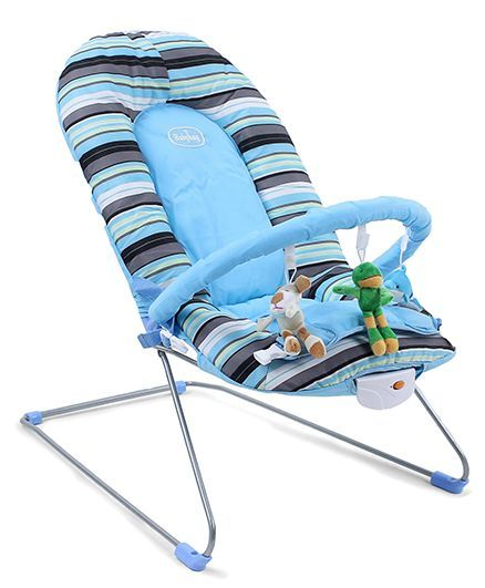 Babyhug Tiny Tots Musical Baby Bouncer - Blue