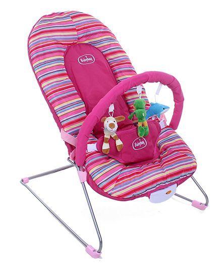 Babyhug Tiny Tots Musical Baby Bouncer - Pink