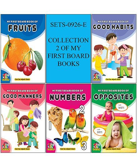 Collection 2 of My First Board Book - English