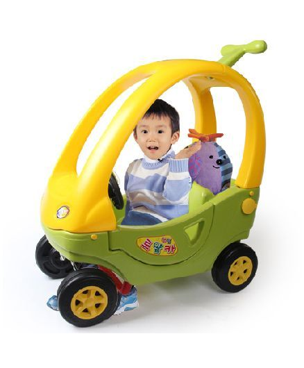 Babycenter India Baby Mini Ride On - Yellow & Green
