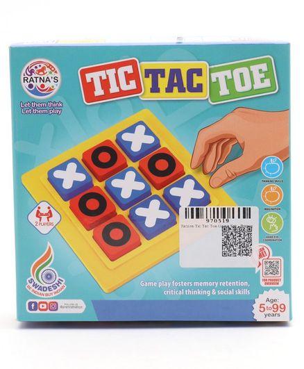 Ratnas Tic Tac Toe Game Set - Brown