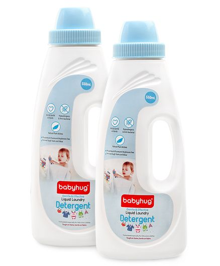 Babyhug Liquid Laundry Detergent - 550 ml (Pack of 2)
