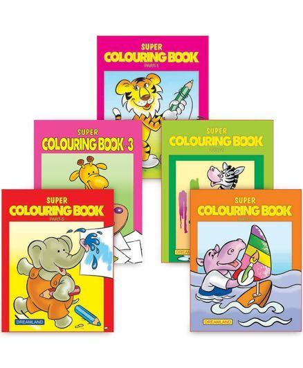 Super Colouring book pack of 5