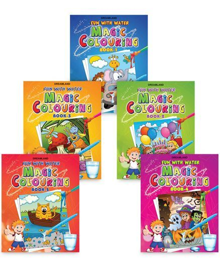 Magic Colouring pack of 5