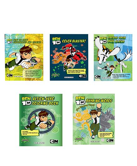 BEN10 (COLOURING BOOKS COMBO) 5 BOOKS