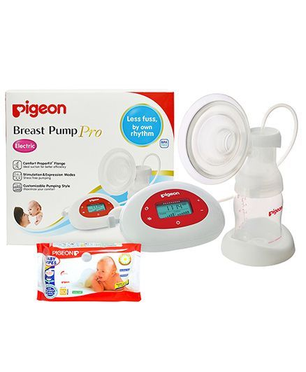 Pigeon Electric Breast Pump Pro AND Pigeon Baby Wipes 80 Pieces