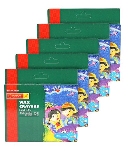 Camel Wax Crayon - Multi Color -Pack of 5