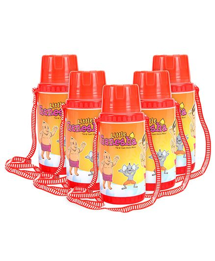 PEP INDIA Litte Ganesha Print Sipper Water Bottle - 800 ml -Pack of 5