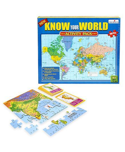 Creatives Know Your World - Activity Pack and  Creatives Know India - Map Game