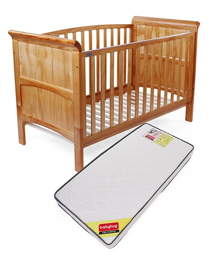 Babyhug Aspen Cot And Mattress Set Size-140X70X10 cm