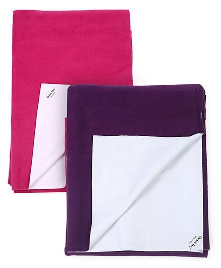 Quick Dry Bed Protector Small - Plum AND Quick Dry Bed Protector Small - Orchid