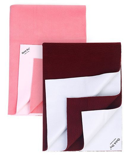 Quick Dry Bed Protector Small - Maroon AND Quick Dry Bed Protector Small - Salmon Rose
