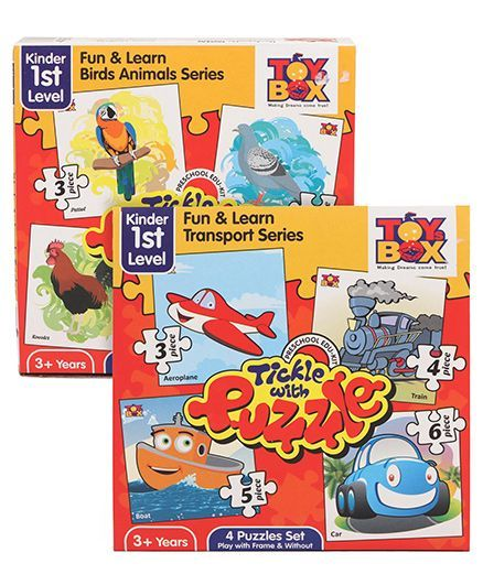 Toys Box Tickle with Puzzle Transport Series - Multicolor and Toys Box Tickle With Puzzle Fun & Learn Birds Animal Series - Multicolor