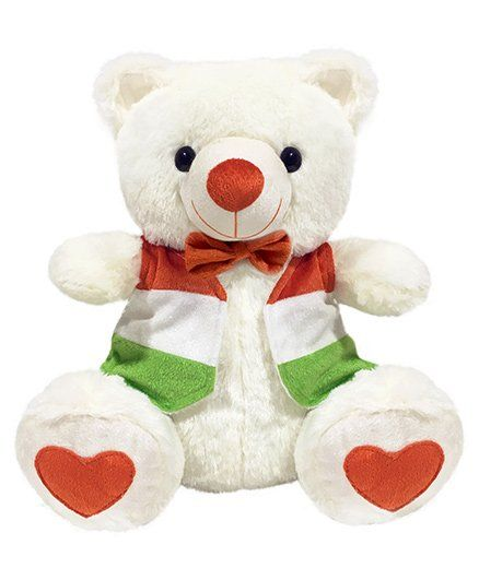 Ultra Independence Day Special Tricolour Teddy Bear - 38 cm +info