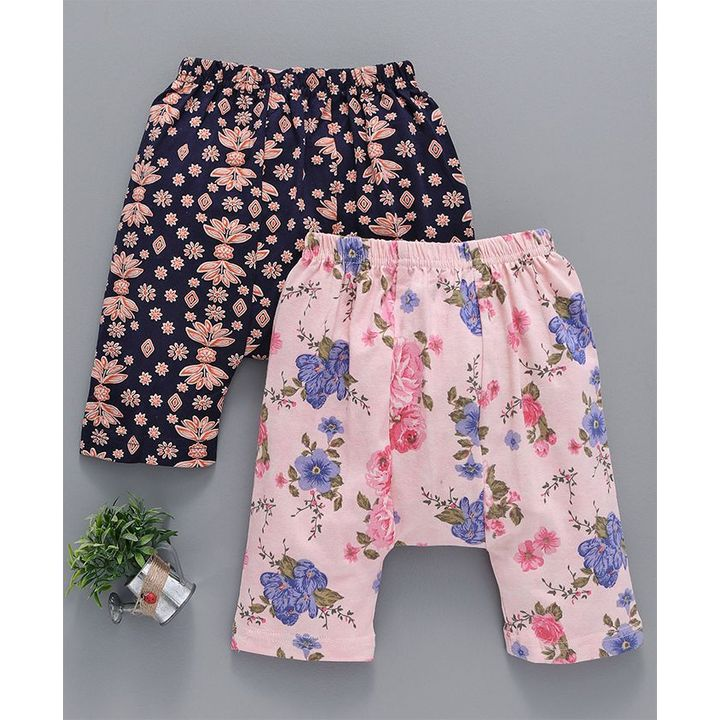 f2331231635e2 Buy Earth Conscious Organic Cotton Diaper Leggings Floral Print Pack of 2  Pink & Black for Girls (9-12 Months) Online in India, Shop at FirstCry.com  - ...