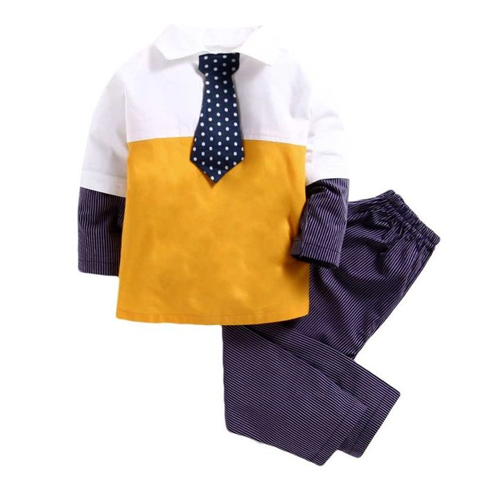 cdf8a543ee Buy Kids Clan Full Sleeves Color Block Striped Night Suit Yellow   Violet  for Boys (7-8 Years) Online in India
