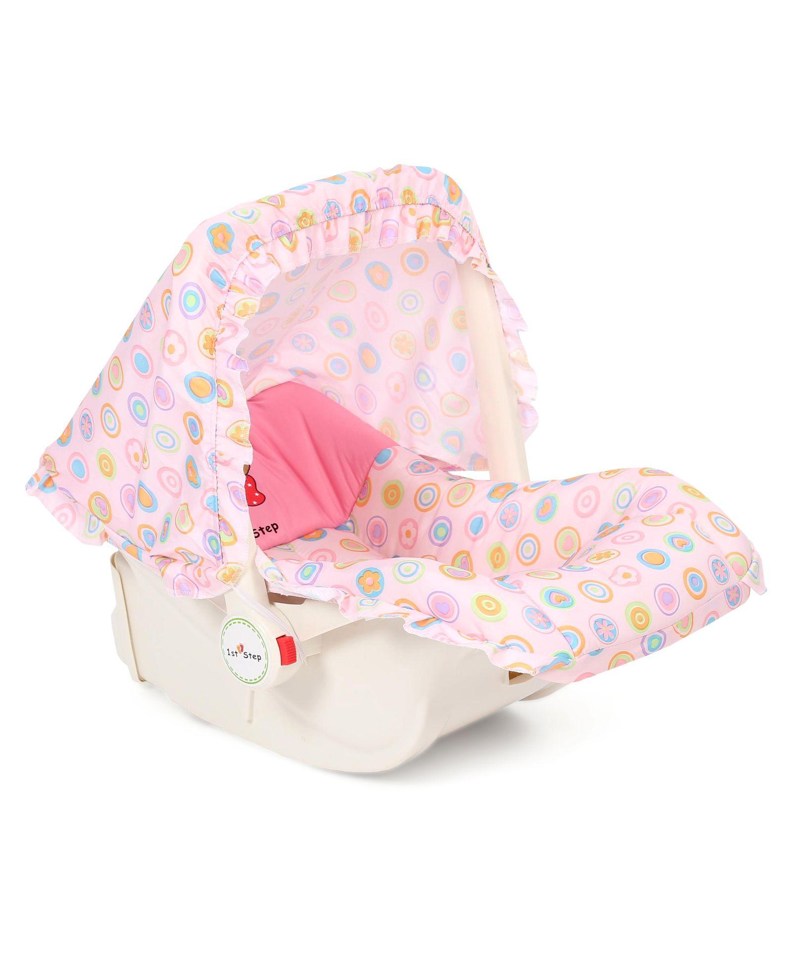 1st Step Baby Carry Cot Cum Rocker - Pink