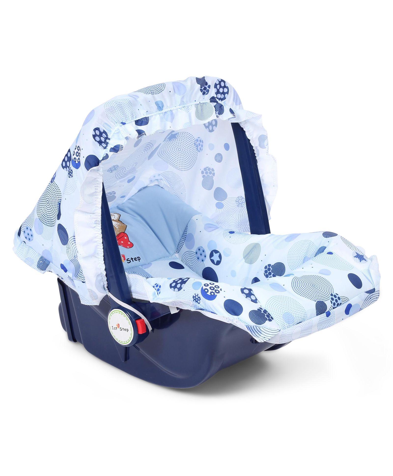1st Step Baby Carry Cot Cum Rocker Star Print - Blue