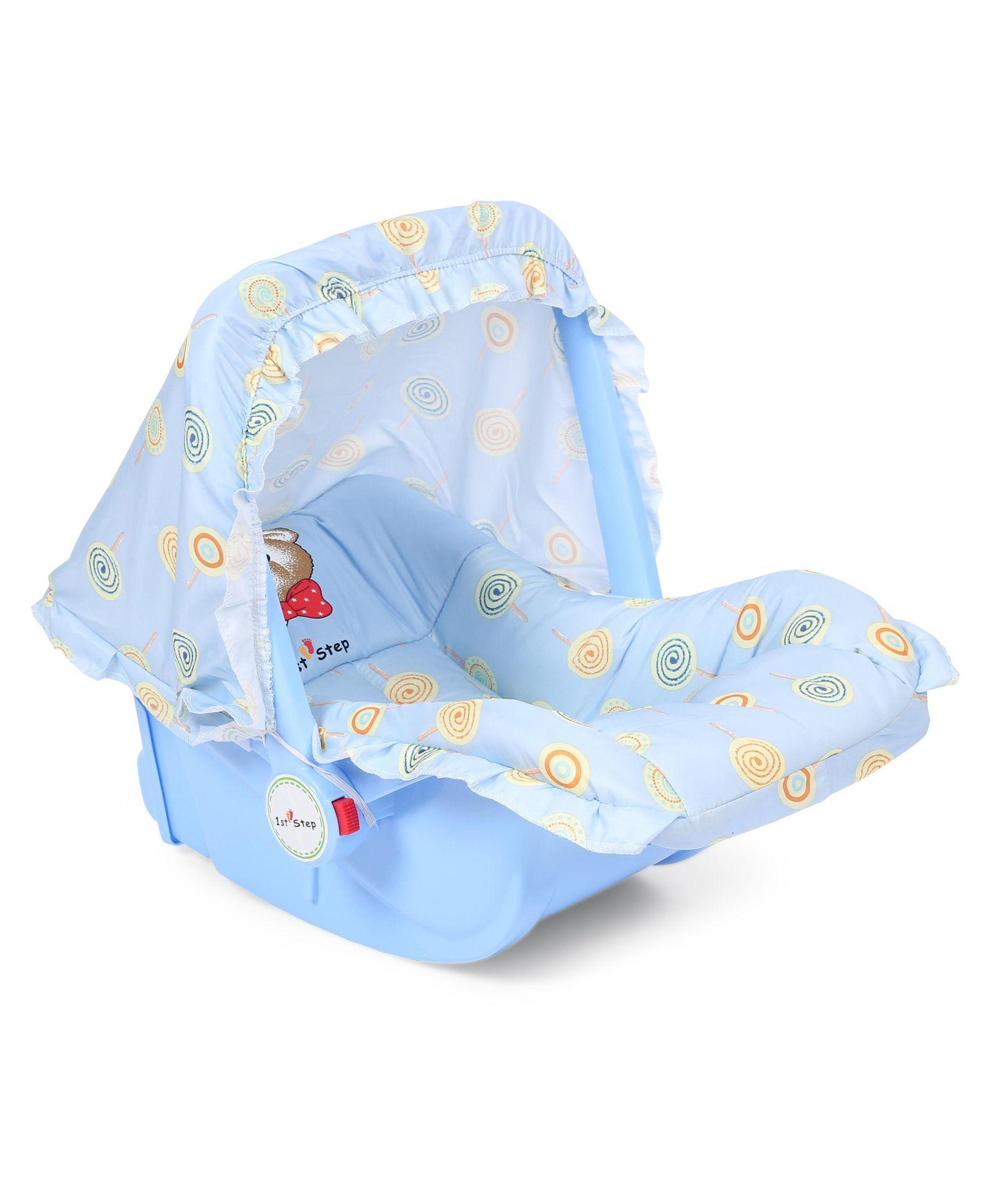 1st Step Baby Carry Cot Cum Rocker - Light Blue