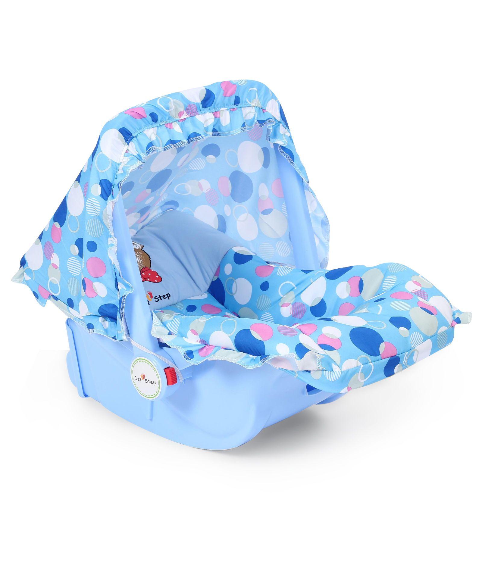 1st Step Baby Carry Cot Cum Rocker Bubbles Print - Blue