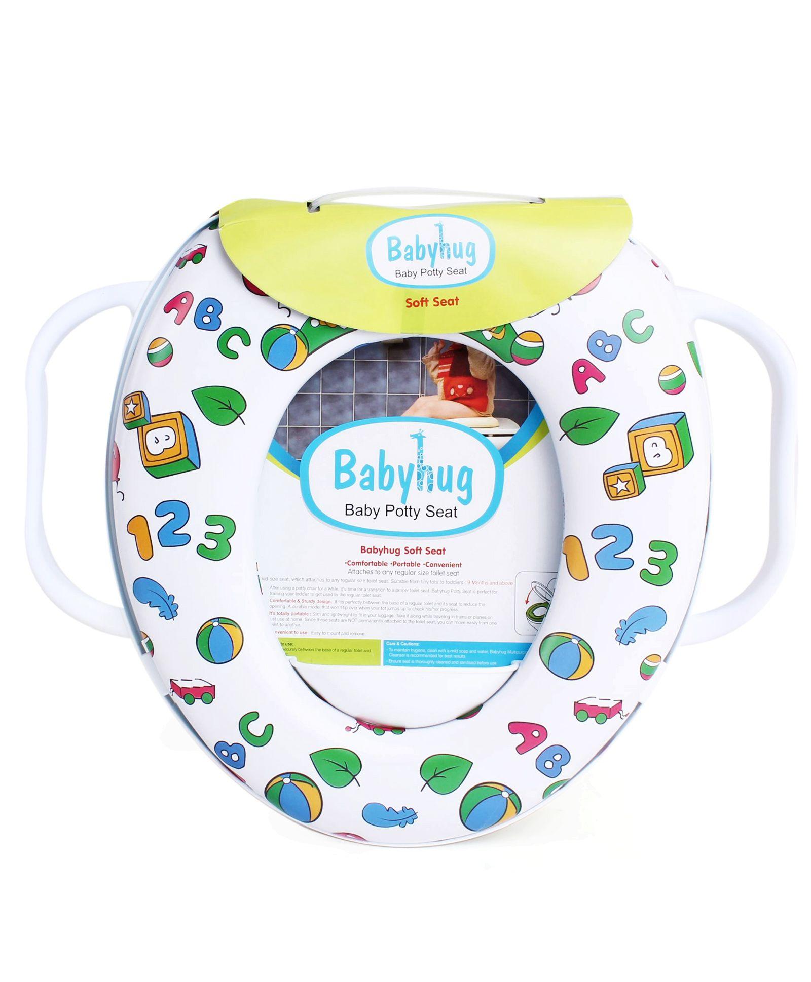 Babyhug Alphabet Numeric Print Potty Seat - White