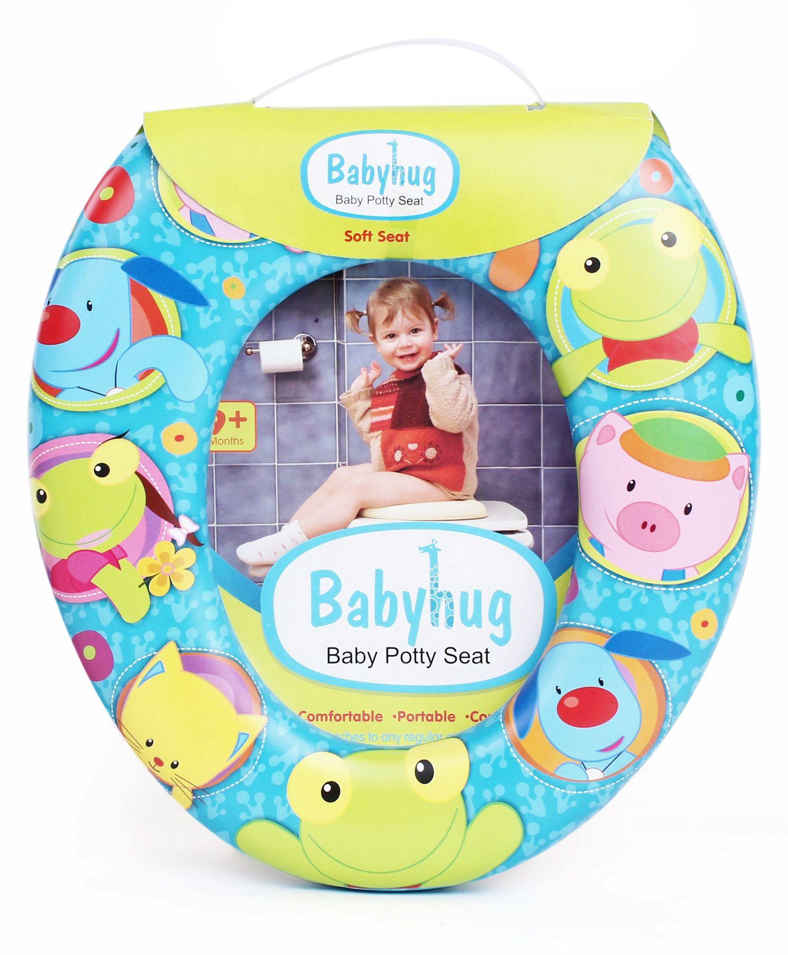 Babyhug Animal Print Potty Seat - Blue