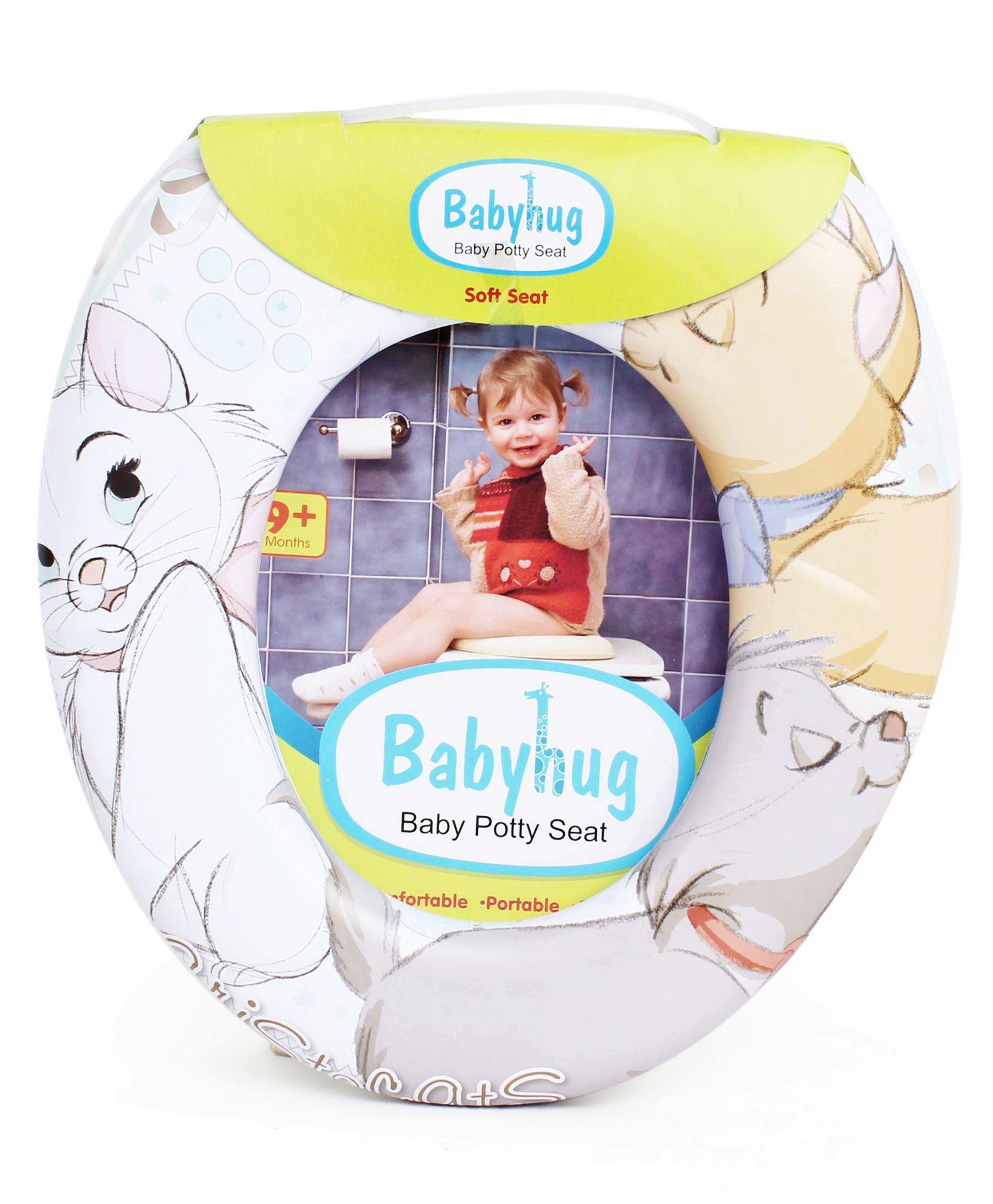 Babyhug Animal Print Potty Seat - White