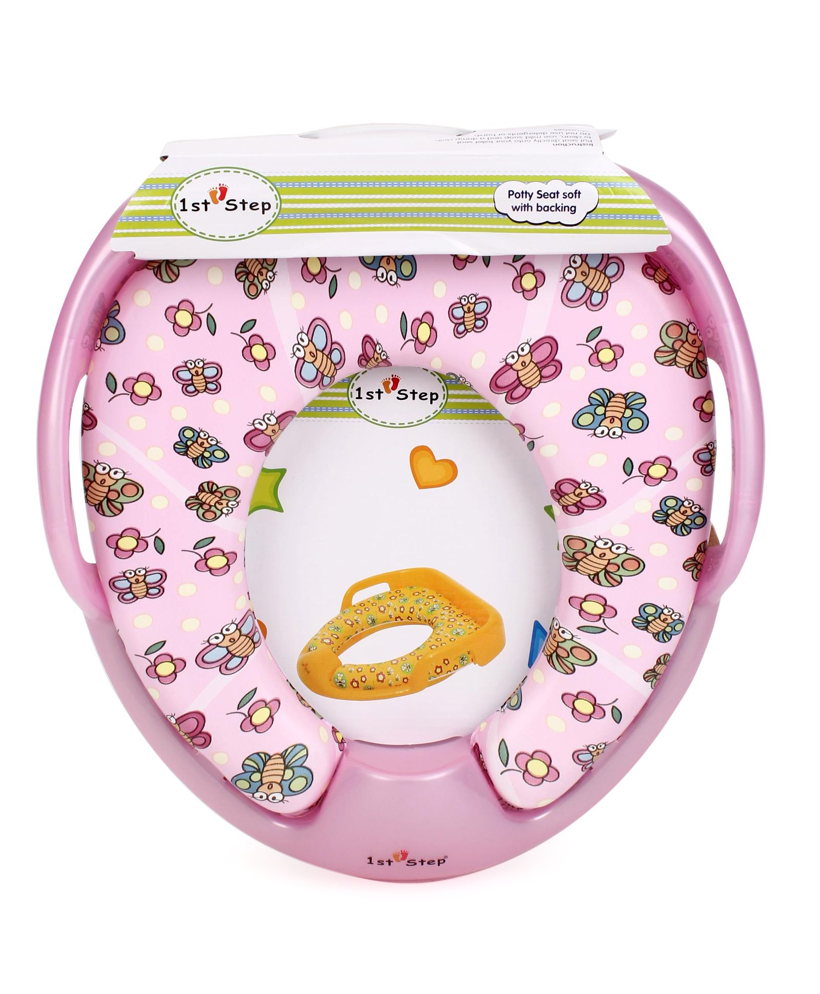 1st Step Potty Seat With Grip - Pink
