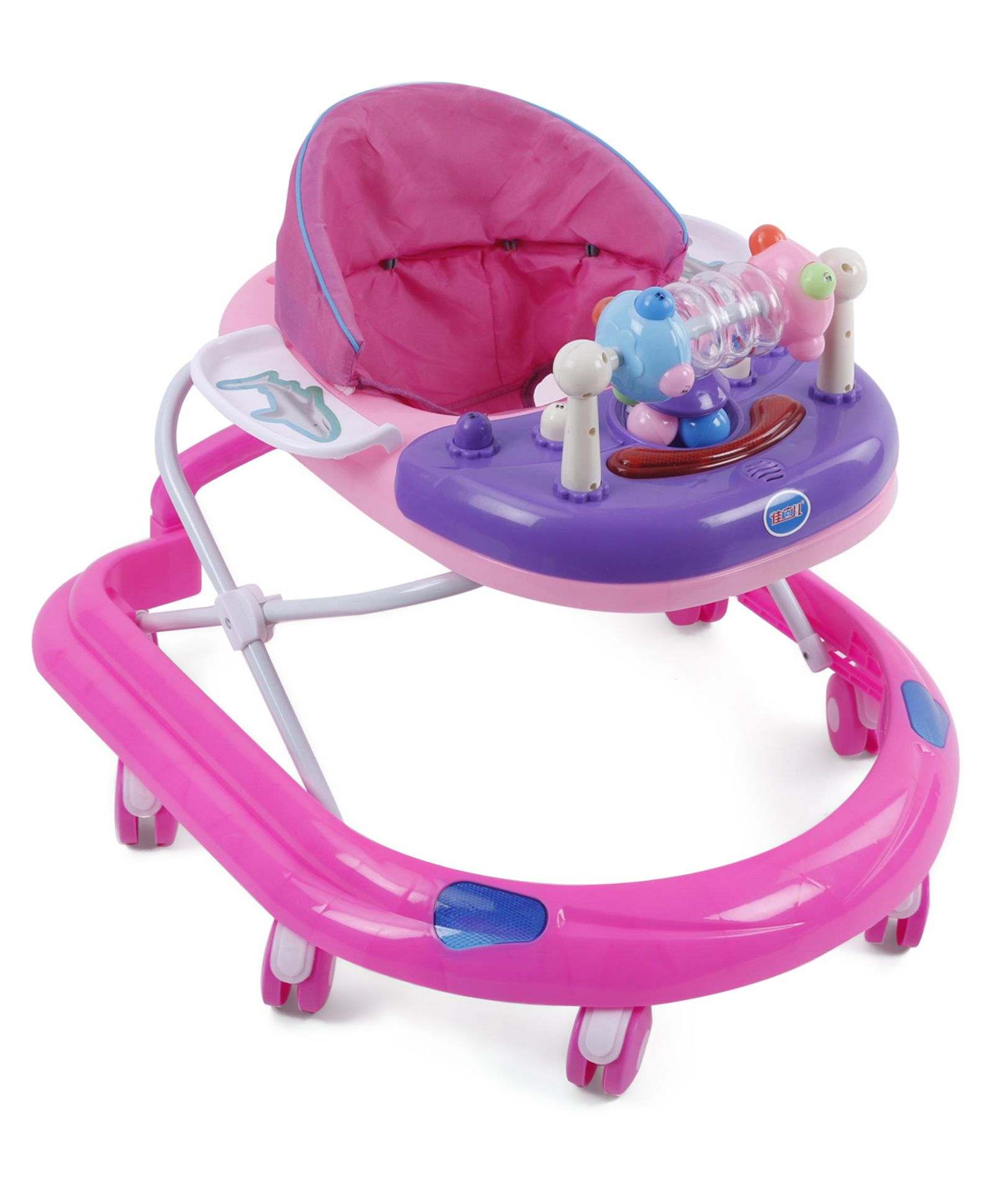Baby Musical Walker With Play Tray - Pink Purple