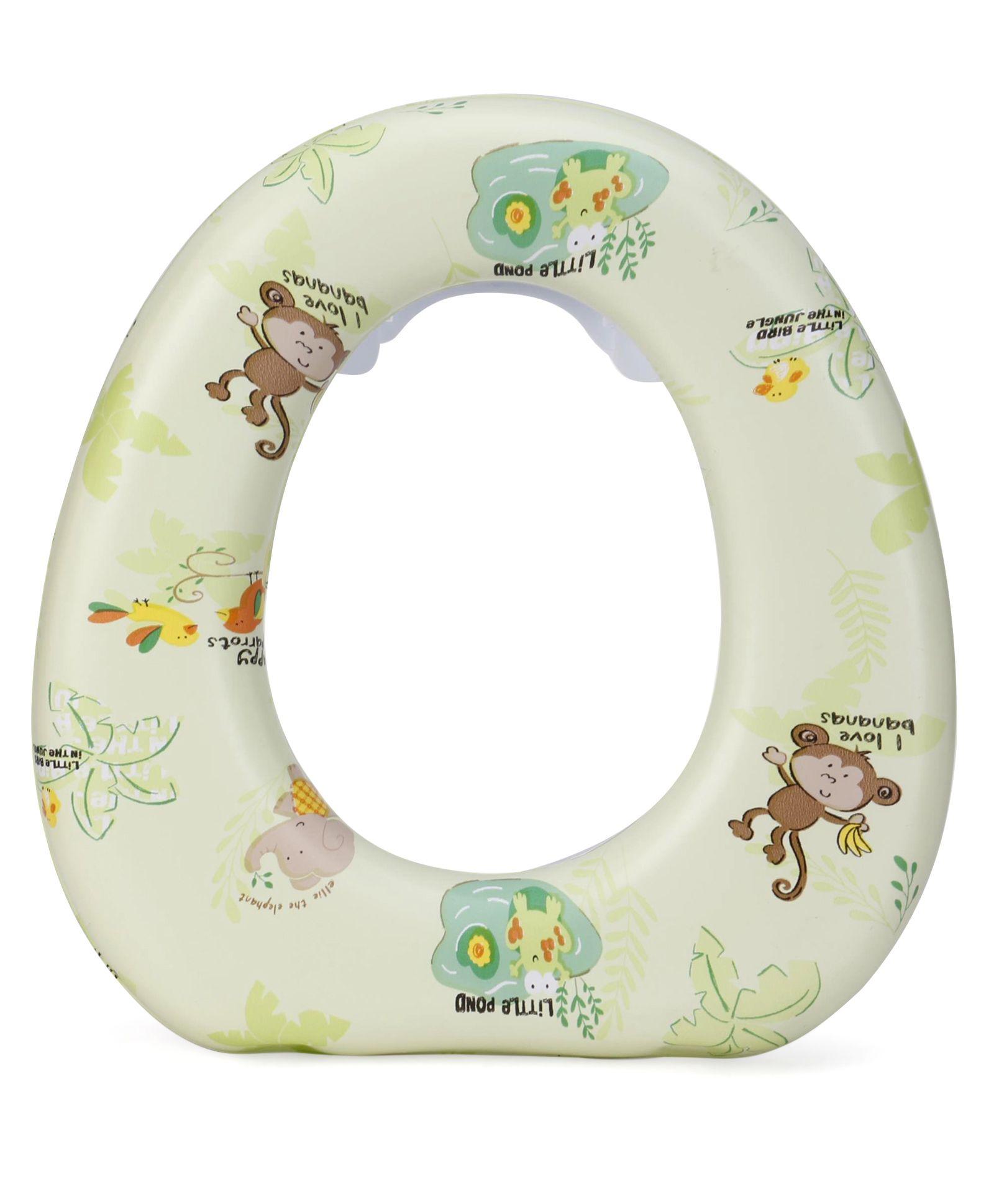 1st Step Cushioned Potty Seat Little Monkey Print - Green