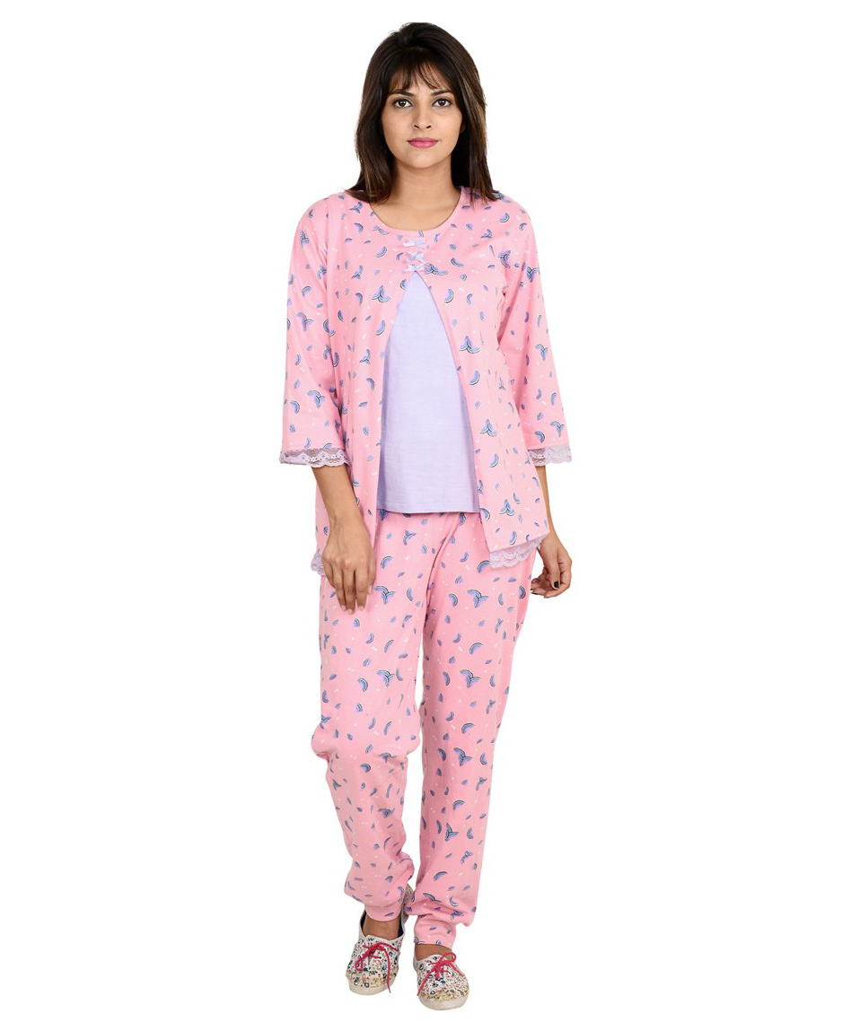 96bbe656d9 9teenAGAIN Watermelon Print Maternity Nursing Night Suit Pink ...