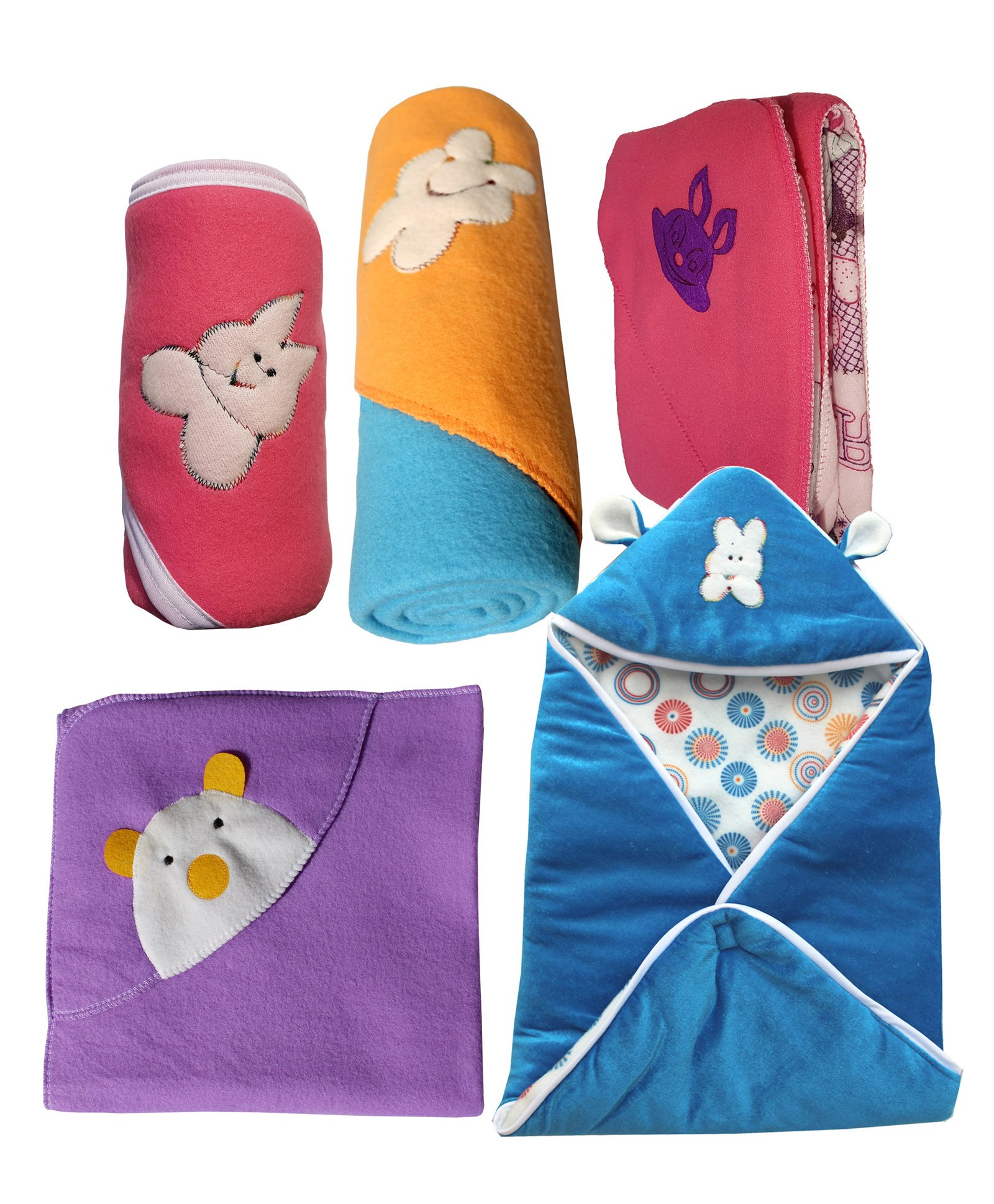 NewBorn Baby Wrapper Cum Blanket Pack of 5